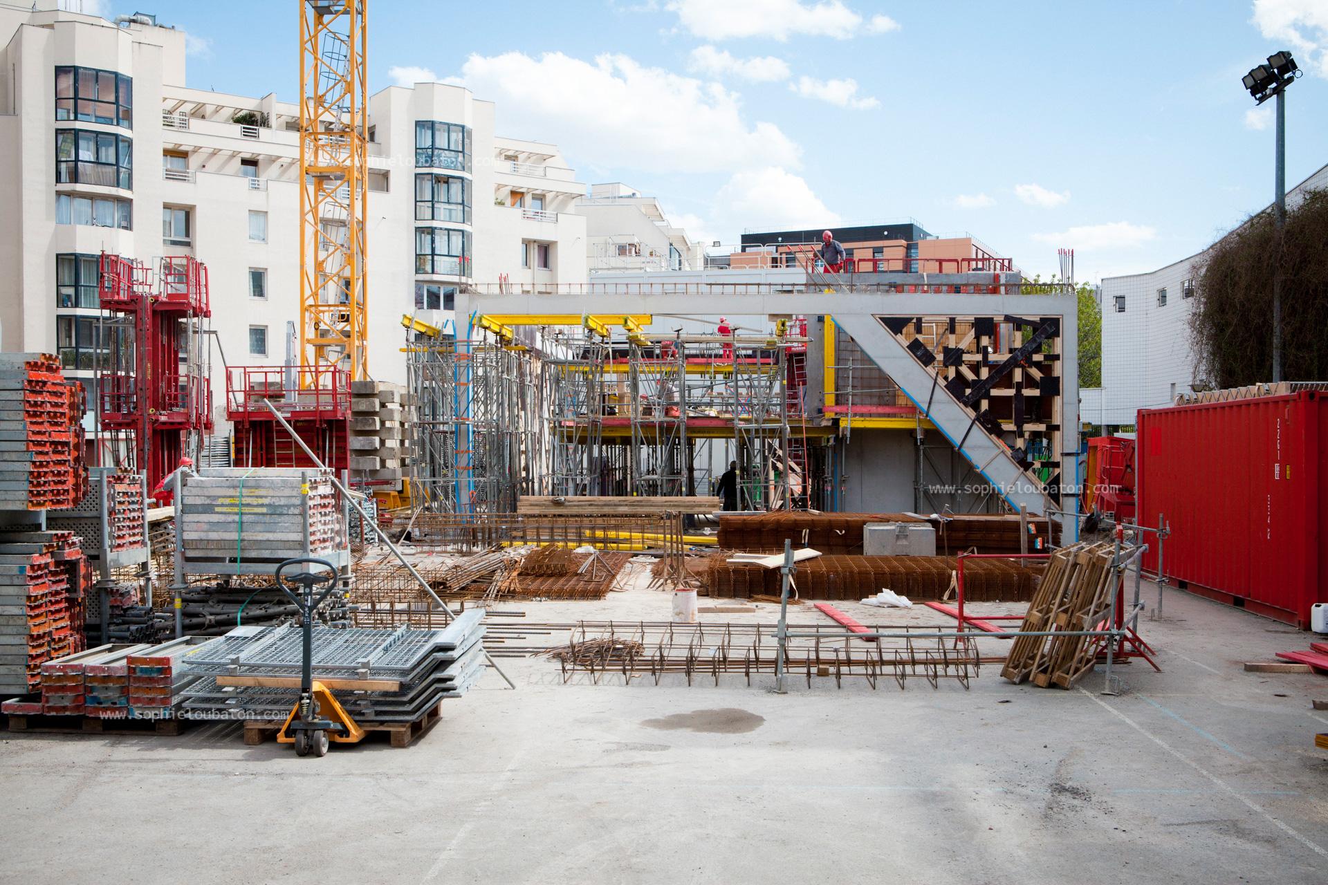 chantier ETI du centre d'animation St-Blaise, Paris 20e.