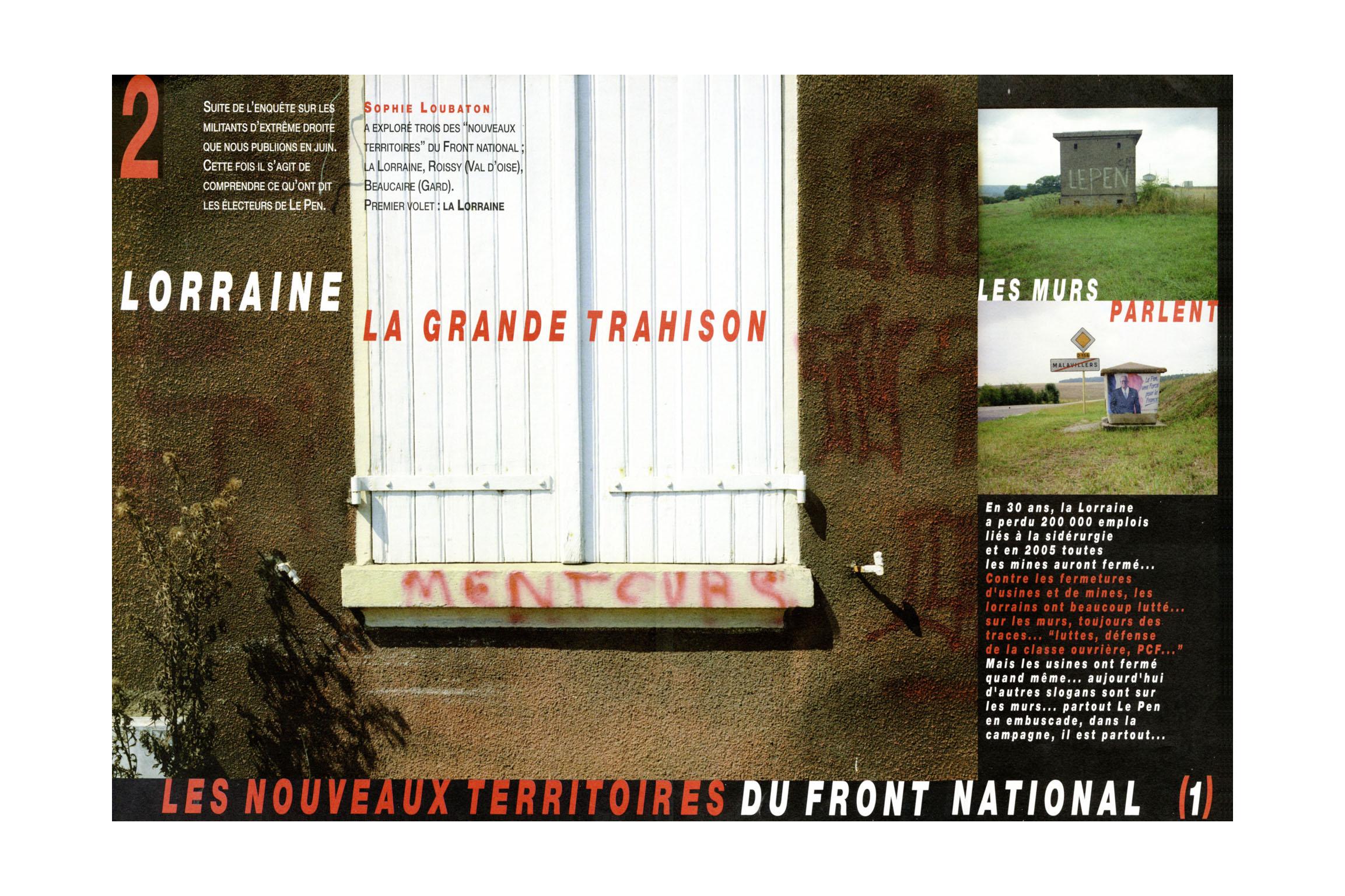 # LORRAINE, LA GRANDE TRAHISON _ REVUE REGARDS / SEPT 2002